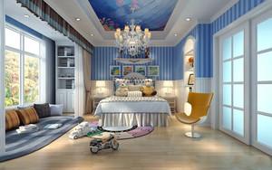 地中海风格大户型儿童房家庭阳台装修效果图