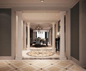 欧式风格别墅室内过道走廊吊顶装修效果图赏析