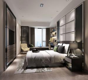 简约后现代风格卧室家庭飘窗设计装修效果图