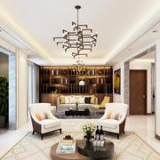 欧式风格大户型室内客厅博古架装修效果图赏析
