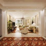 简欧风格别墅室内客厅门套设计装修效果图鉴赏