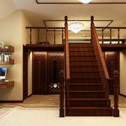 现代中式风格复式楼室内楼梯装修效果图赏析
