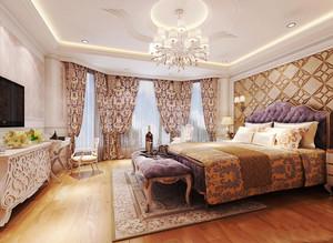 法式风格精致典雅卧室窗帘装修效果图赏析