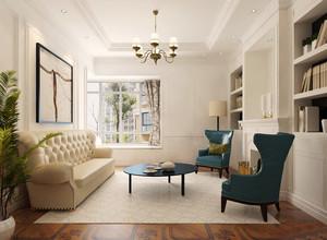 现代简约美式风格客厅书柜装修效果图赏析