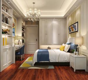 简欧风格儿童房卧室整体衣柜装修效果图