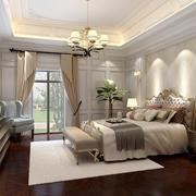 欧式风格别墅室内卧室吊灯装修效果图