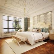 现代简约美式风格卧室背景墙装修效果图赏析