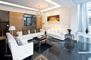 166平米现代风格复式楼室内整体装修效果图