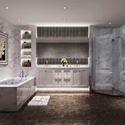 30平米现代简约风格大户型卫生间隔断设计装修效果图
