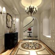 300平米欧式风格别墅入户玄关设计装修效果图
