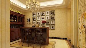 12平米欧式风格酒柜照片墙装修效果图