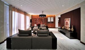 新古典中式风格三室两厅装修效果图鉴赏