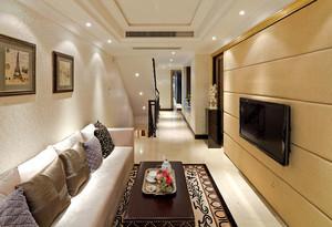 149平米现代简约欧式风格复式楼室内整体设计装修效果图