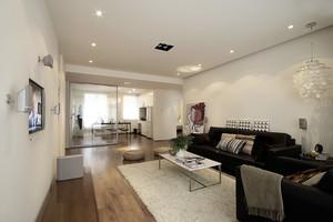133平米现代简约风格两室两厅一卫装修效果图