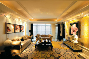 166平米精致欧式风格四室两厅装修效果图赏析