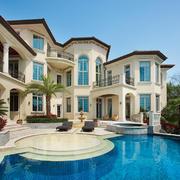欧式风格别墅室外游泳池设计装修效果图