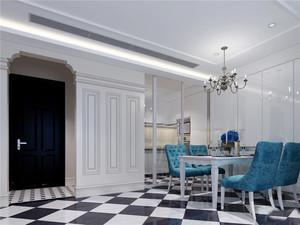 地中海风格三居室进门玄关门套设计装修效果图