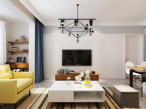 北欧风格客厅电视背景墙设计装修效果图