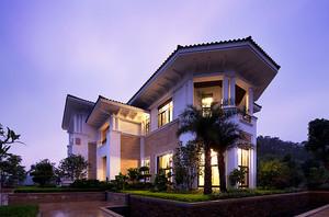 300平米欧式风格独栋别墅户型图装修效果图