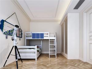 20平米北欧风格简约儿童房衣柜设计装修效果图