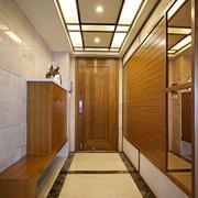 简约日式风格玄关鞋柜设计装修效果图赏析