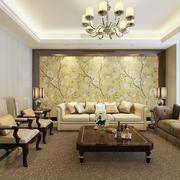 简欧风格大户型客厅沙发背景墙装修效果图赏析