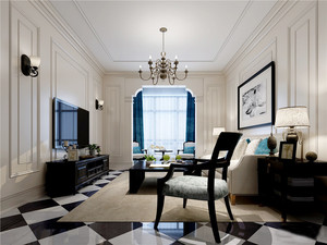 地中海风格别墅室内客厅门套设计装修效果图鉴赏