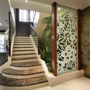 简约欧式风格别墅室内楼梯装修效果图赏析