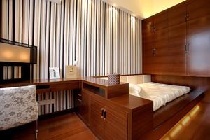 260平米中式风格联排别墅室内整体装修效果图