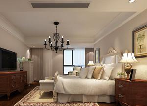 现代简约美式风格大户型主卧室装修效果图