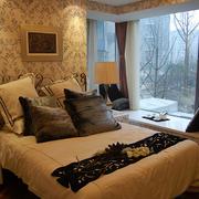 简欧风格两居室卧室飘窗设计装修效果图