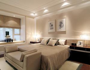 现代简约风格两居室卧室飘窗设计装修效果图