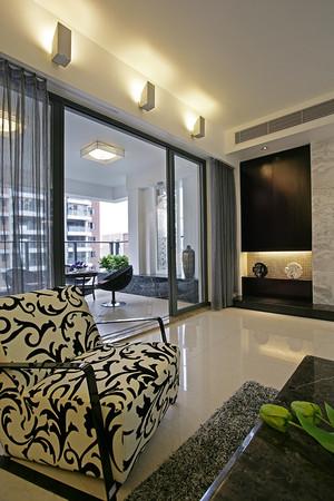 126平米都市简约风格一居室装修效果图赏析