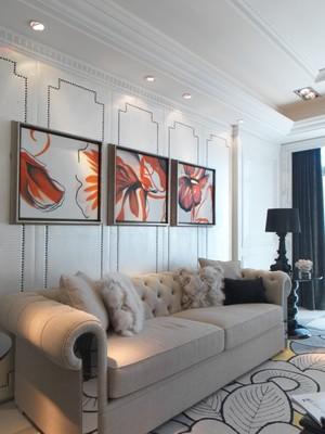 现代简约美式风格三室两厅两卫装修效果图