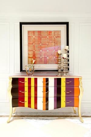 后现代简约风格别墅室内玄关鞋柜设计装修效果图