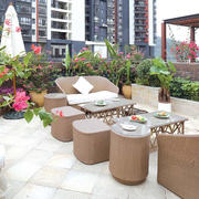 现代简约风格大户型屋顶花园效果图