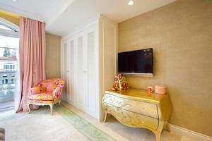 欧式田园风格女生卧室整体衣柜设计装修效果图