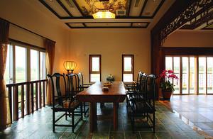 136平米中式古典风格一室一厅一卫设计装修效果图