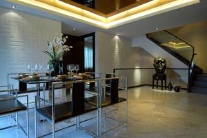 156平米中西混搭风格复式楼室内装修效果图赏析