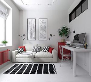 50平米北欧风格女生公寓室内装修效果图鉴赏