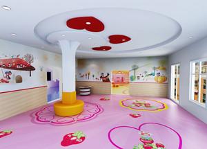 118平米现代风格幼儿园教室手绘墙设计效果图鉴赏
