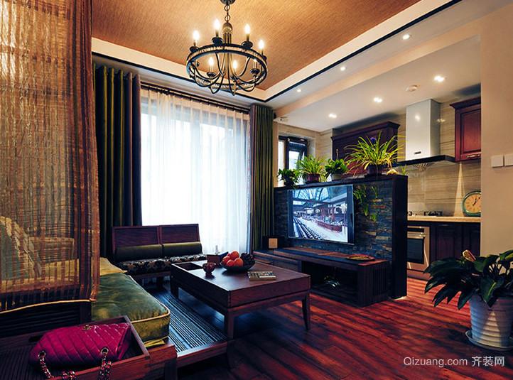 古典美式风格二居室客厅电视背景墙效果图鉴赏