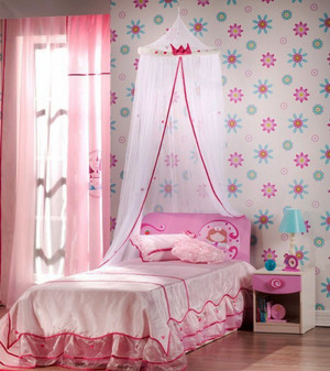 30平米欧式粉色系儿童房装修效果图