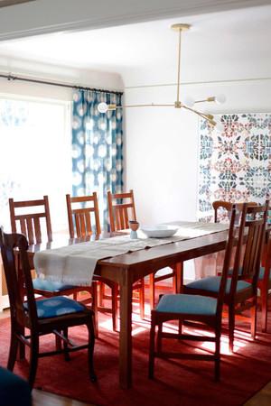 新中式风格小户型餐厅窗帘设计效果图鉴赏