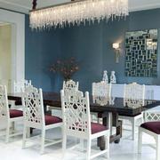 欧式风格三居室餐厅水晶灯效果图鉴赏