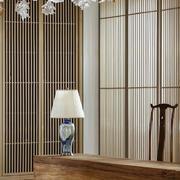 中式风格三居室创意餐厅实木书桌设计效果图