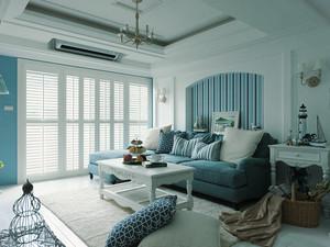 地中海风格三居室室内整体装修效果图赏析