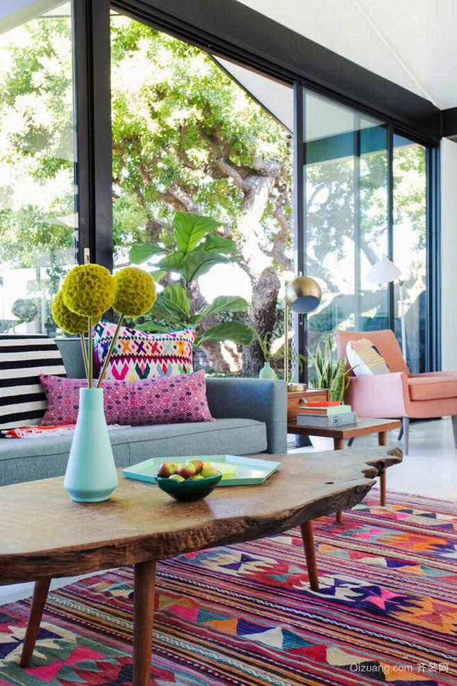 东南亚风格大户型客厅创意茶几效果图鉴赏