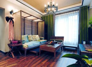 120平米东南亚风格室内装修效果图鉴赏