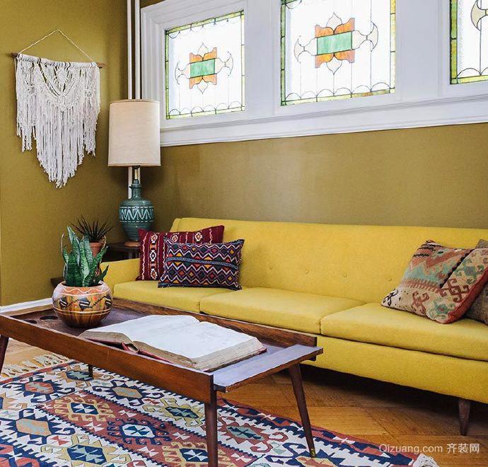 韩式风格二居室客厅沙发设计效果图鉴赏